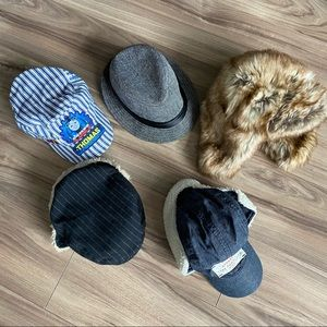 Lot of 5 - toddler hats